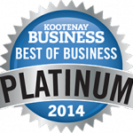 Kootenay Business 2014 Platinum Winner